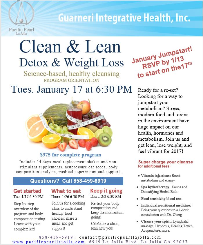 Ignite Your Metabolism and Detox After the Holidays – January 17, 2017!