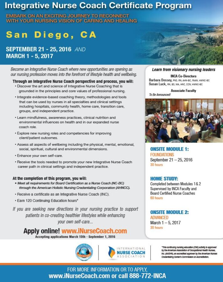 Integrative Nurse Coach Certificate Program Pacific Pearl Of La