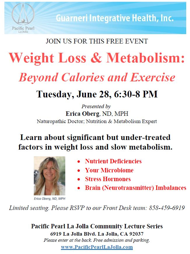 weight loss and metabolism lecture June 2016