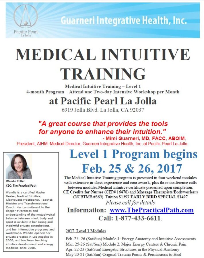 Medical Intuitive Training, Level 1 - Module 2 - Pacific Pearl of La ...