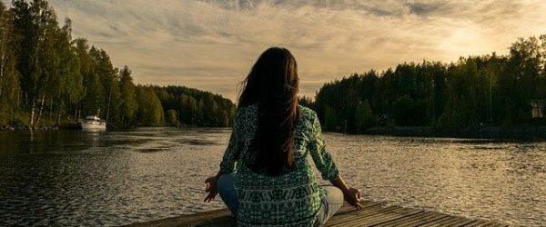 woman meditation to stay healthy